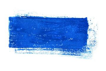 Isolierter blauer unordentlicher Farbstreifen