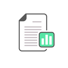 Business document file graph page stats icon