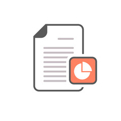Business document file page pie chart report icon