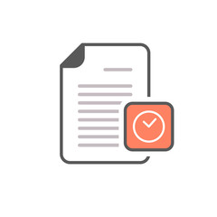 Clock deadline document file page icon