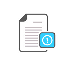 Document exclamation mark file page warning icon