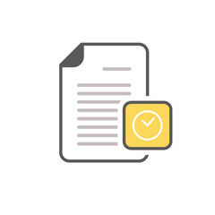 Clock deadline document file office page icon