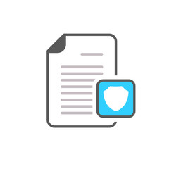 Document file page security shield icon