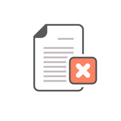 Cancel document file page restricted x icon