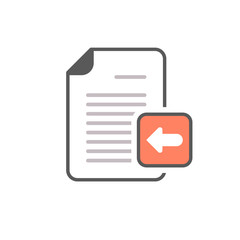 Arrow document file left page icon