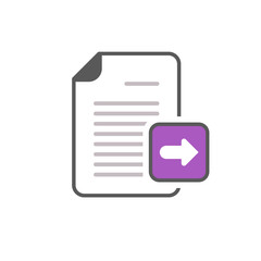 Arrow documents files pages right icon
