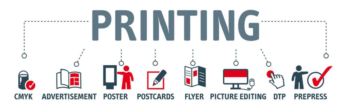 Banner printing vector design concept