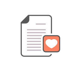 Document file heart letter love page icon
