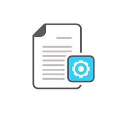 Cog document file gear optimise page settings icon