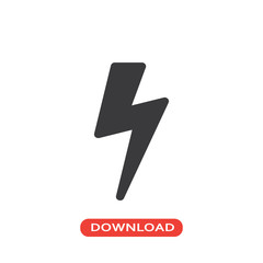 Lightning bolt shadow icon