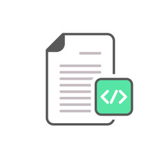 Code coding document file html page programming icon