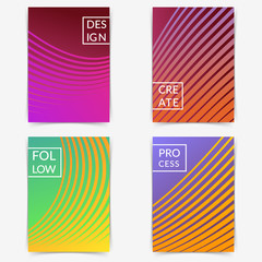 Thematical bright soft mild gradient lines folder collection