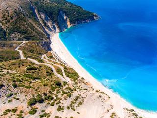 Myrtos Beach Cephalonia (Kefalonia) Greece aerial view