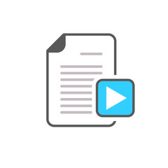 Document file movie page play button video icon