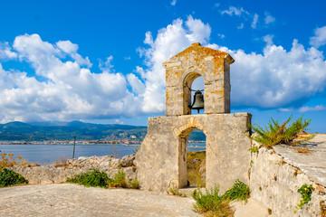 Lefkada Town as seen from the Lefkada Fortress Santa Maura - Agia Mavra tourist attraction near the island capital city