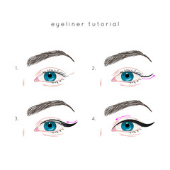 How to apply eyeliner. Eye make up step by step