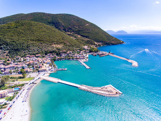 Vasiliki town in Lefkada Island Greece