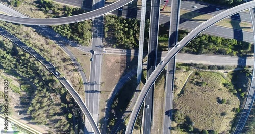 Light Horse interchange of M4 and M7 highways in Sydney West – top