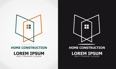 abstract home construction logo