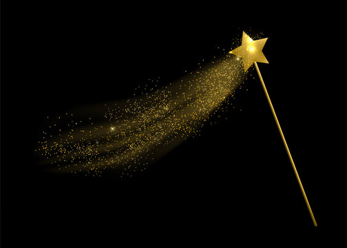 Vector illustration of magic wand.