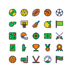 Sports Icon Set Collection