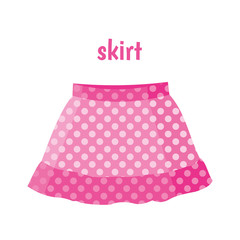 Pink skirt vector illustration
