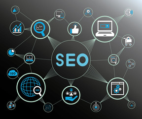 SEO, search engine concept network