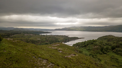 Loch Torridon, Scottish Highlands; aerial view