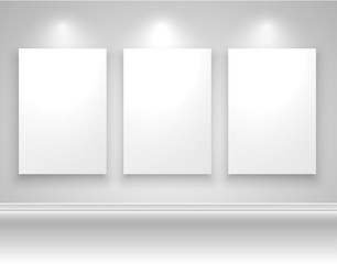 Frames on wall template design, vector