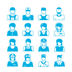 people career avatar icons