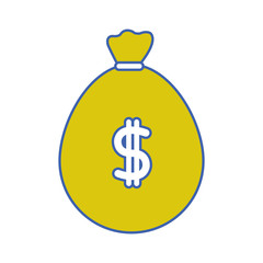 bag to save cash money with peso symbol