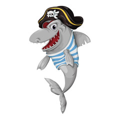 Shark Pirate on a white background