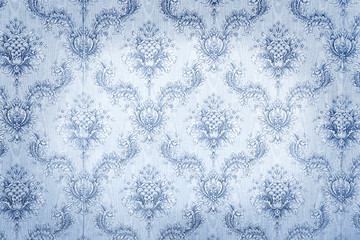 Old blue wallpaper