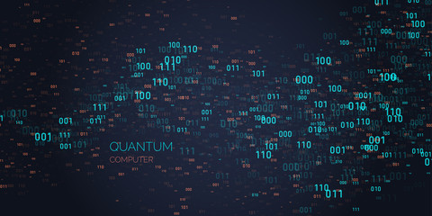 Calculation quantum computer. Analysis and data transfer.