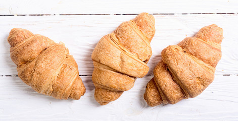 French traditional breakfast croissant