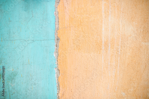 two colour texture background turquoise and orange\