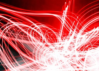 Fiery red and light white electric modern lighting design image
