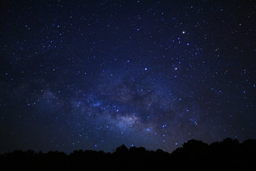 Milky way galaxy at Phu Hin Rong Kla National Park in Phitsanulok, Thailand