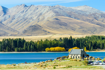 Autumn in lake tekapo, NZ