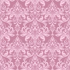 pink seamless wallpaper pattern. Classic vintage pattern. Damask wallpaper