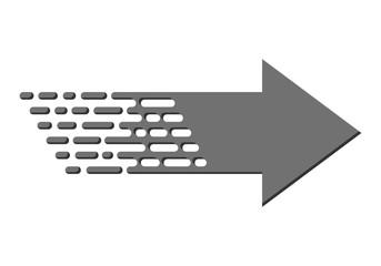 Linear arrow. Vector illustration.