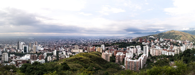 view over cali from tres cruces, Colombia