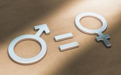 Parité et égalité de salaire entre hommes et femmes au travail. Concept