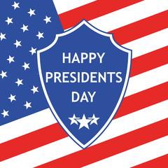 Presidents Day logo. Vector illustration