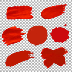 Red Blots Isolated Transparent Background