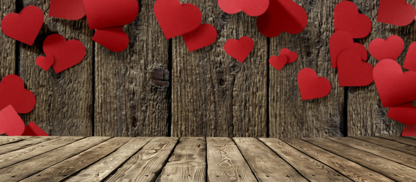 valentine day table background