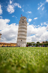 Pisa Cathedral (Duomo di Pisa) with the Leaning Tower of Pisa in Pisa, Tuscany, Italy