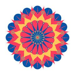 Decorative colored mandala