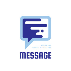 Message - speech bubbles vector logo concept illustration in flat style. Dialogue talking icon. Chat sign. Social media symbol. Communication consulting insignia. Design element.