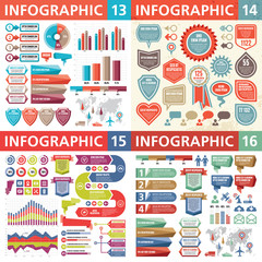 Infographic business design elements - vector illustration. Infograph template collection. Creative graphic set.